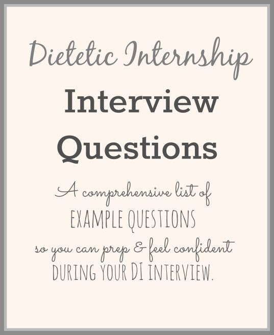 Nutrition & Dietetics: Distance Internship Admission Process