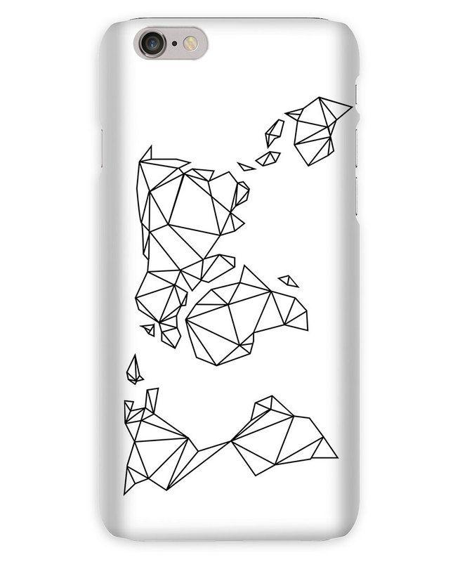 Geometrische Erde en Coque iPhone 6s par Eulenschnitt   JUNIQE