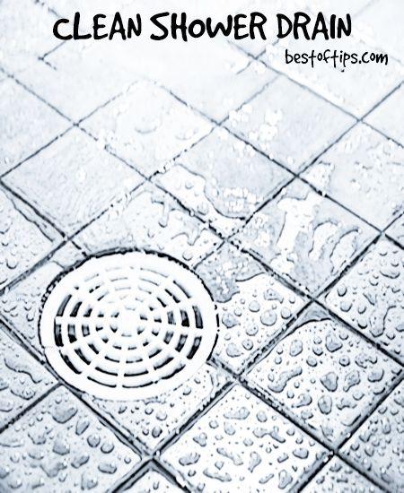 clean shower drain naturally