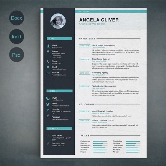 Resume Template A by @Graphicsauthor