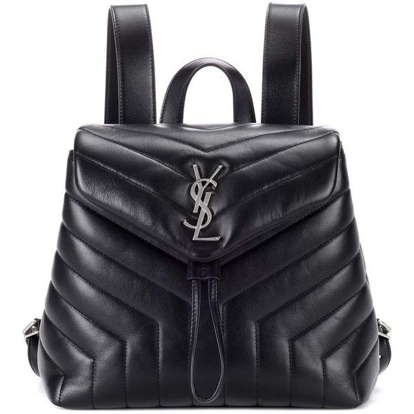 Saint Laurent Small Loulou Leather Backpack ( 1,875) ❤ liked on Polyvore  featuring bags, 3764b183e7