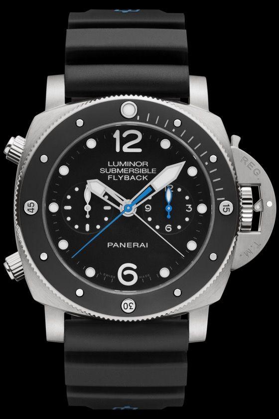 Panerai Luminor Submersible 1950 3 Days Chrono Flyback Automatic Titanio