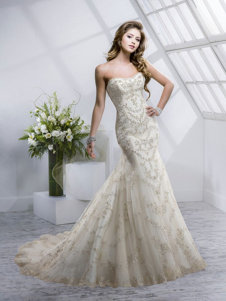 designer sottero midgley style maurie size 14 color light gold retail