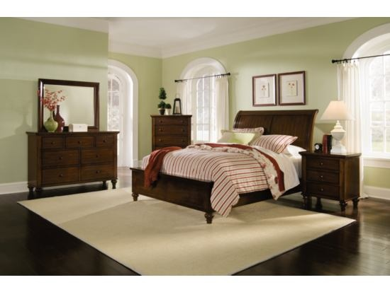 Savannah Cherry 7 Pc Bedroom Package Value City Furniture