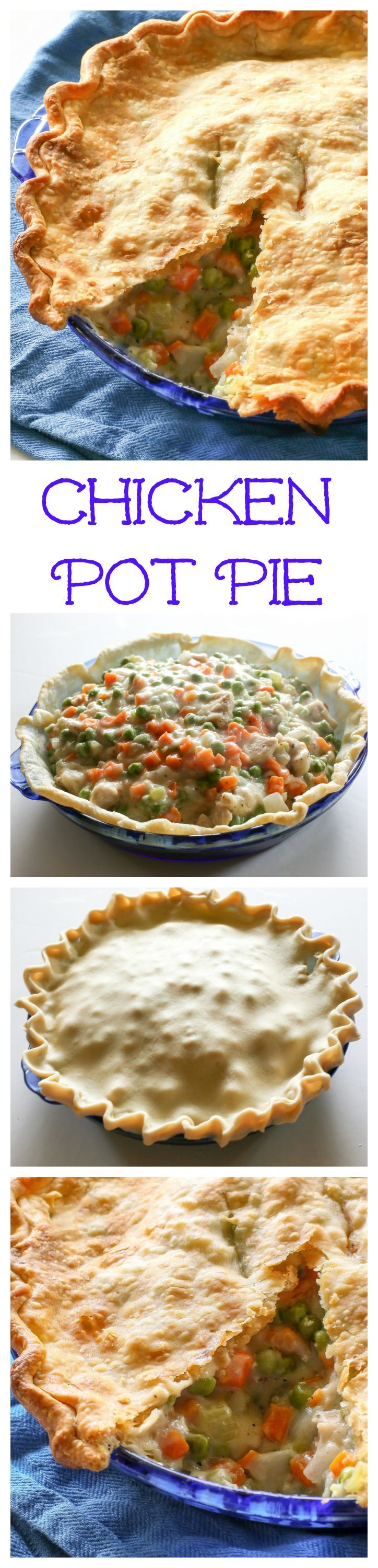 Chicken Pot Pie - a classic chicken pot pie with vegetables that is so comforting. My family loves this recipe. the-girl-who-ate-everything.com
