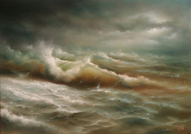 живопись - морской пейзаж, купить картину Бурное море