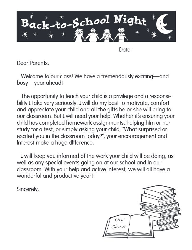 Vocabulary parent letter - Coursework Example