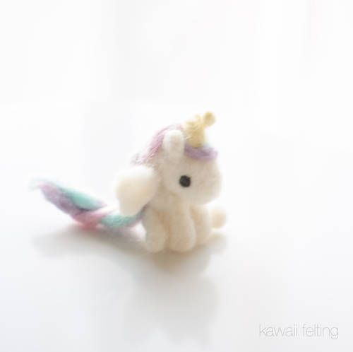 Unicorn Needle Felting with Tutorial link - FIBER ARTS