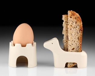 I totally made this exact egg fort in aluminum for my sculpture class! great minds. // egg + soldiers • takae mizutani