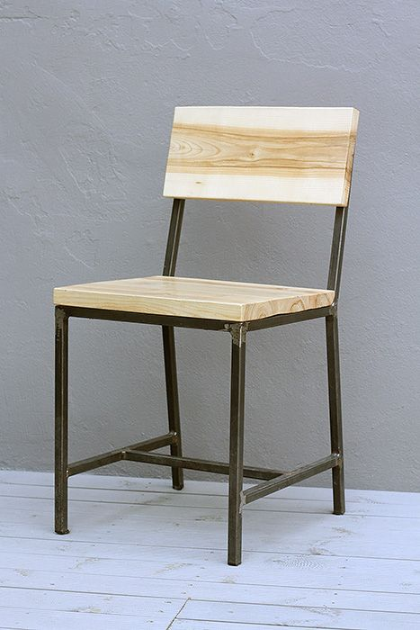 Wood and steel chair