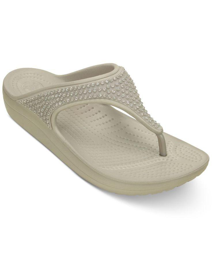 Crocs Women's Sloane Diamante Flip-Flops