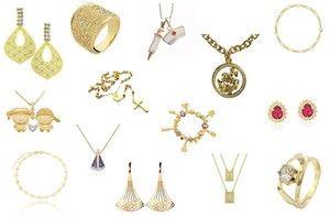 Semi joias folheados a ouro direto da fabrica com preço de atacado para revenda.