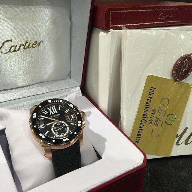 Jam Replika Cartier Calibre DeDiver RoseGold Ulimate Clone 1 1 Dgn Asl | WA 081283098098 | Harga Rp 6480000
