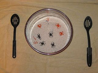 Spiders in Rice- great activity for fine motor skills - repinned by @PediaStaff – Please Visit  ht.ly/63sNt for all our pediatric therapy pins