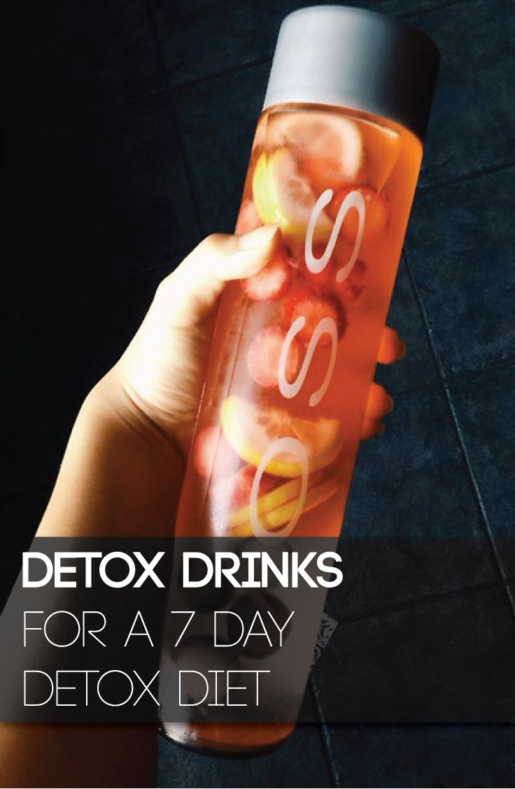 Detox Drinks for a 7 Day Detox Diet. I couldn't do the veggie ones...but I could definitely do the fruit ones!!