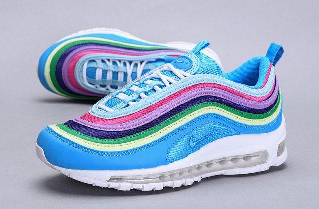Nike Air Max 97 Blue Multi Color Ah6806 100 Sneaker Women S Shoes Nike Air Max 97 Nike Air Max Nike Air