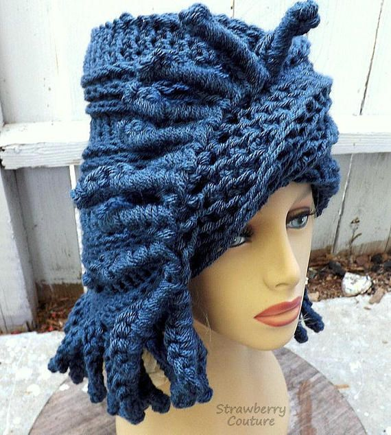 Hipster Beanie Hats Crochet Beanie Hats for Women Winter Beanie Crochet Hat Womens Hat Trendy Blue Hat Tribal Hat by strawberrycouture by #strawberrycouture on #Etsy