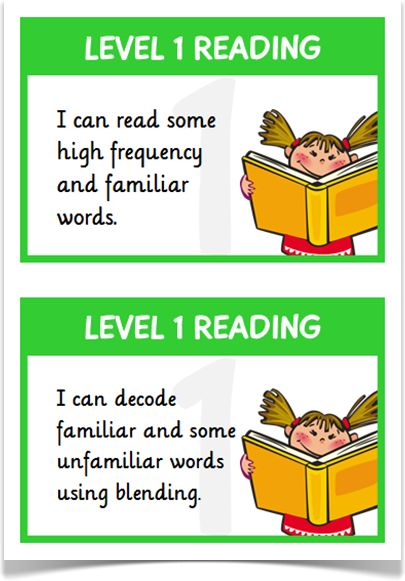 Reading Targets Levels 1  2 - Treetop Displays - A set of 26 reading target statements on A5 flashcards for children working at level 1 (in green) and level 2 (in red). Each flashcard presents a cartoon character reader and links to the APP writing assessment guidelines. Visit our website for more information and for other printable resources by clicking on the provided links. Designed by teachers for Early Years (EYFS), Key Stage 1 (KS1) and Key Stage 2 (KS2).