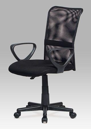 KA-N844 BK Kancelářská židle, mesh černá, výškově nastavitelná. Nosnost 90 kg.