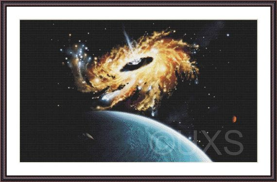 Eater of Worlds universe stars and planet by UnconventionalX, $17.00