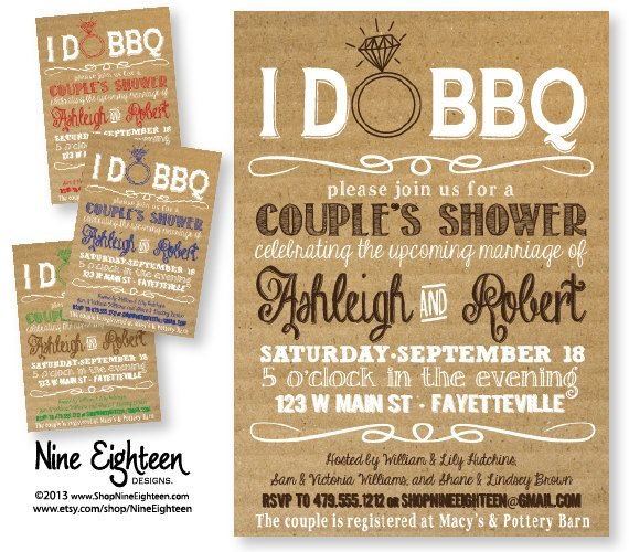 I Do BBQ Couples Shower Barbeque Bridal Shower. door NineEighteen