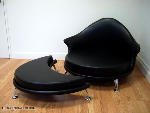 Lunar Lounge Design - Havana Retro Lounge Chair and Ottoman Eames Era Mid Century Modern via Etsy.