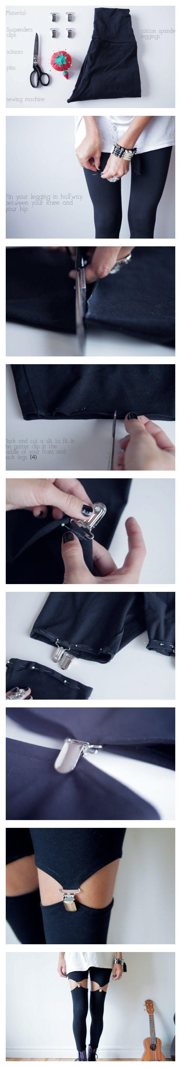 DIY garter leggings