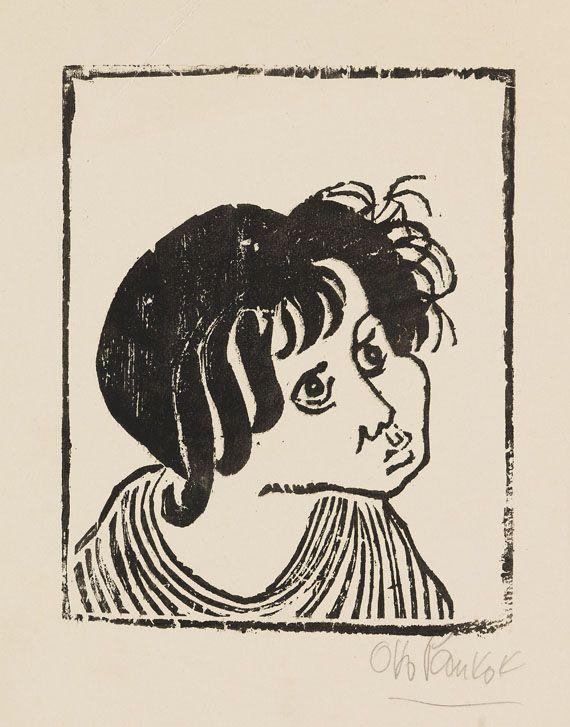 Pankok, Otto  3 Blätter: Ehra. Junger Zigeuner. Zigeunerkopf (Papelon), 1943.