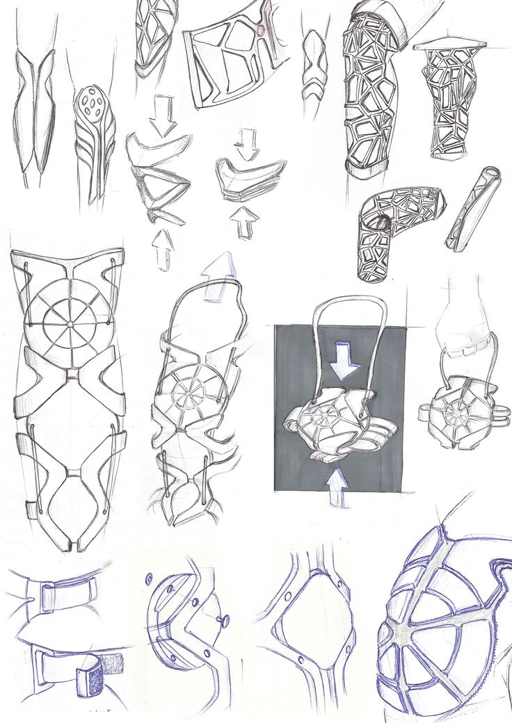 A selection of my freehand sketches.
