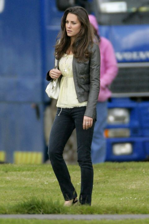 June 7, 2009 — Back before she was the Duchess of Cambridge, Kate attended a polo match wearing a yellow top with skinny jeans and a leather jacket.
