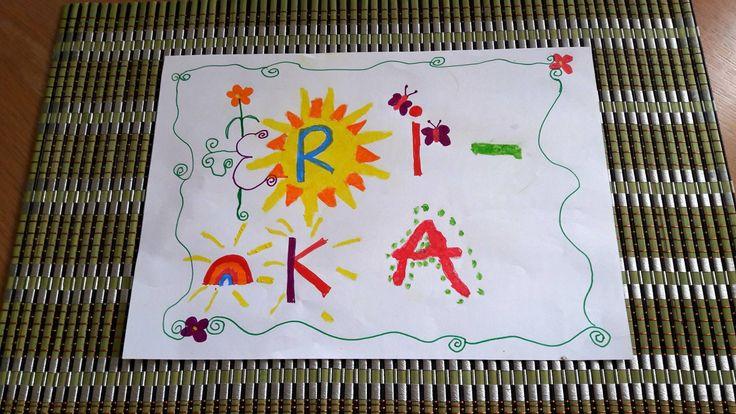 """Quand le jour de """"SON"""" Anniversaire, une petite fille de 9 ans (19/10/1) vous attend les bras ouverts avec """"CE"""" dessin donné hier après-midi, le 22 mai 2017 ..."""