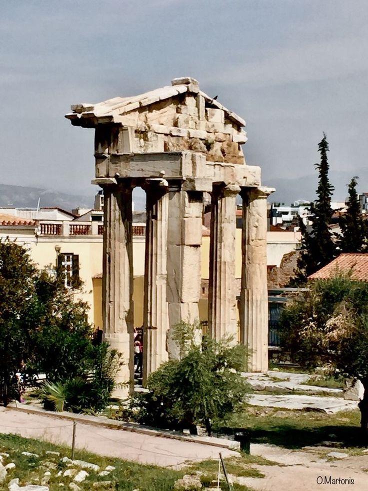 The Gate of goddess Athena Archegetis,Monastiraki,Athens,Greece
