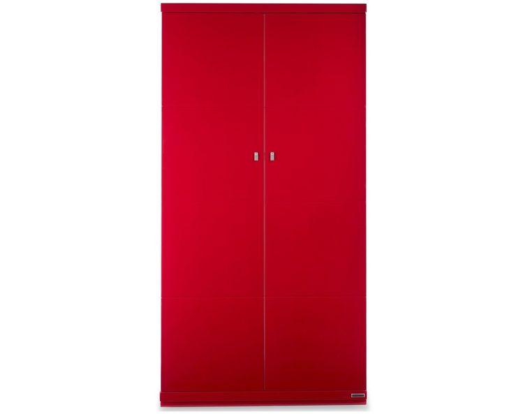 Red Two Door Wardrobe Design Id542 - Two Door Wardrobe Designs - Wardrobe Designs - Product Design