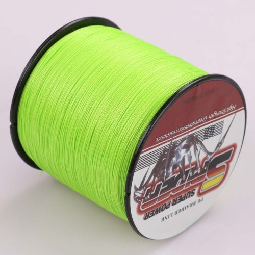 Brand  8Strands 2000M 150LB 200LB Test Fluorescent Green Braided Fishing Line