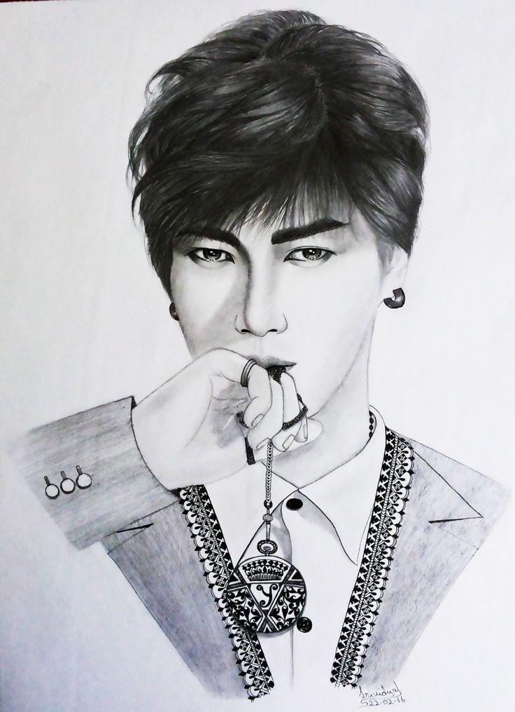#yesung #superjuniour #inkart #ink #sketch #portrait #drawing #graphite #designer #fusion #suju