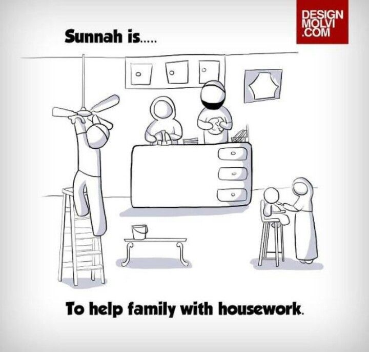 Sunnah - To help family with housework