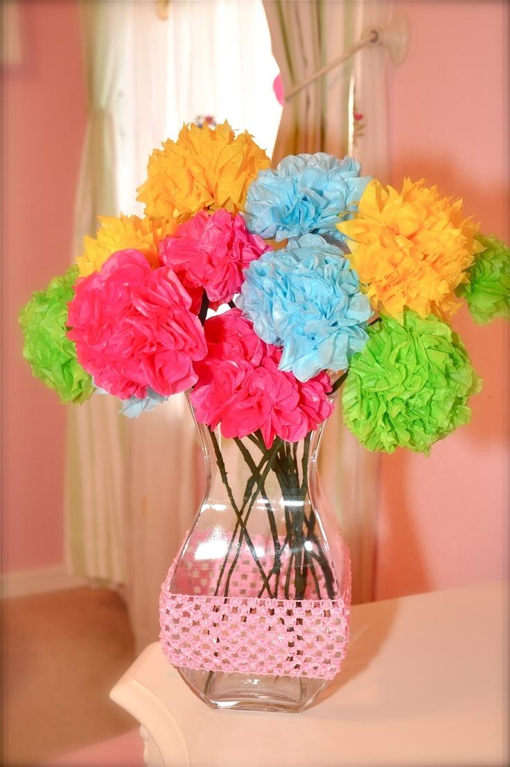 92 best Tissue Paper Flower images on Pinterest | Tissue paper ...
