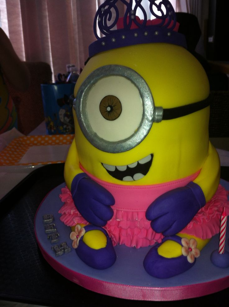 Princess Minion Birthday Cake The Best Of Both Worlds