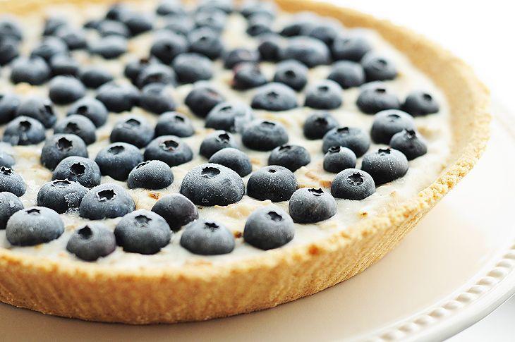 Frozen Blueberry Coconut Yogurt Pie from @Amy Johnson / She Wears Many Hats