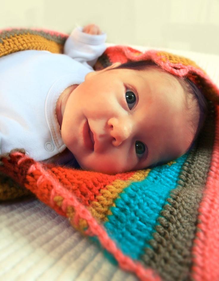 SLAAPZAK / TRAPPELZAK voor baby gehaakt en gestreept