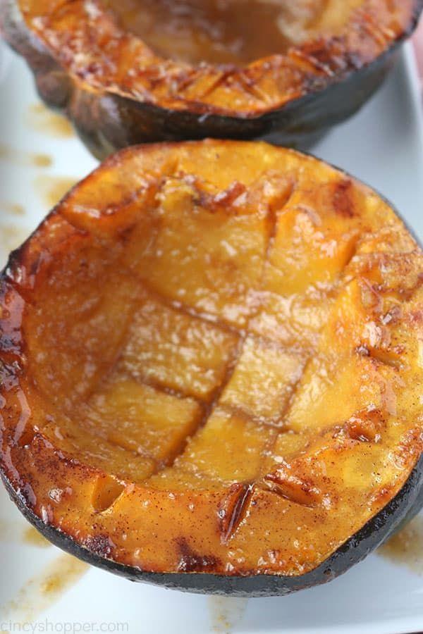 Brown Sugar Baked Acorn Squash Recipe Acorn Squash Acorn