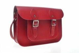 Red Oxford Satchel A modern classic the Harrow Bag is handmade in the UK using the finest quality English leather with excellent craftmanship. The matching cable stitching, well structured bag, detachable handle, adjustable shoulder strap and dual buckles give it a perfect contemporary design twist.  11inches: Width 28cm * Height 20cm * Depth 5cm (without card holder)