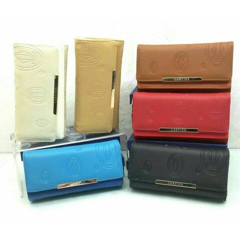 Wallet Cartier 2025 super lipat4 19x10 / black-red-white-blue-apricot-brown