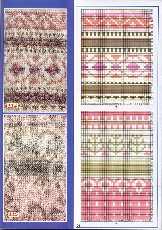 Knitting Jacquard Stitch : 1000+ images about Charts for Fair Isle, Jacquard, crochet, cross-stitch on P...