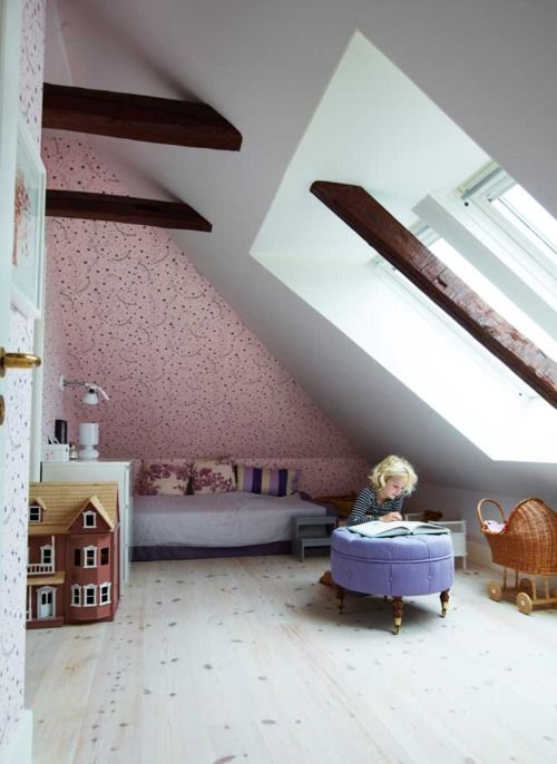 AMAZING child's attic bedroom