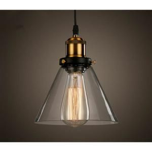 LUSTRE ET SUSPENSION Industrielle Vintage Verre Suspensions Luminaire R