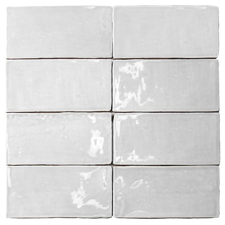 Ivy Hill Tile Catalina White 3 in. x 6 in. x 8 mm Polished Ceramic Subway Wall Tile (5.38 sq.ft./case)-EXT3RD101710