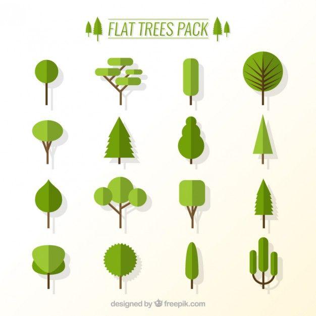 """Résultat de recherche d'images pour """"arbre flat design"""""""