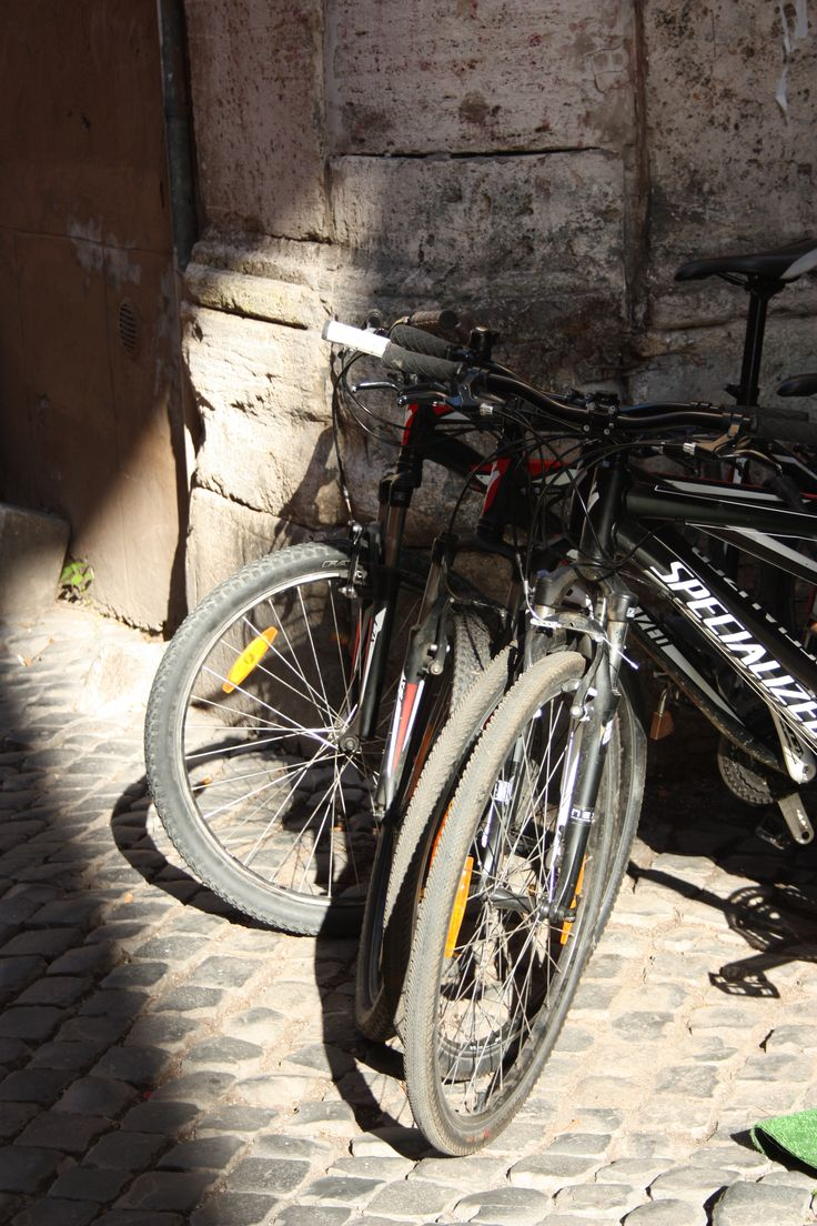 #Trastevere #Rome #Bikes #Bicycles #black #sunlight #shade playing with the #light