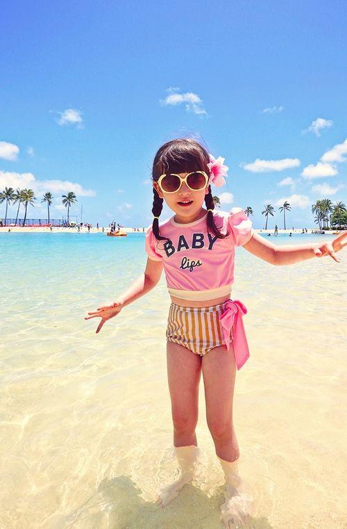 Peach & Cream Baby Girl Swimsuit (2C)